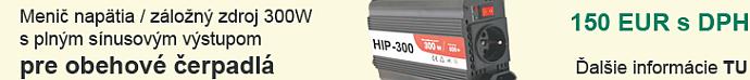 Záložný zdroj - menič napätia - snusový pre obehové čerpadlá HIP-300