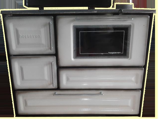 Liatinovy sporak Hosseven 4010 - bielo-cierna farba